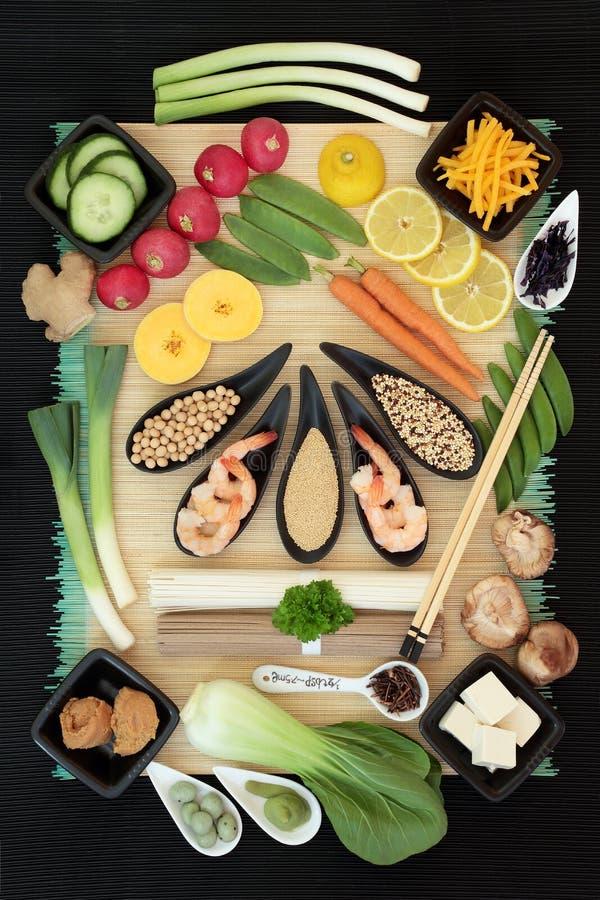 Sélection macrobiotique de nourriture photo libre de droits