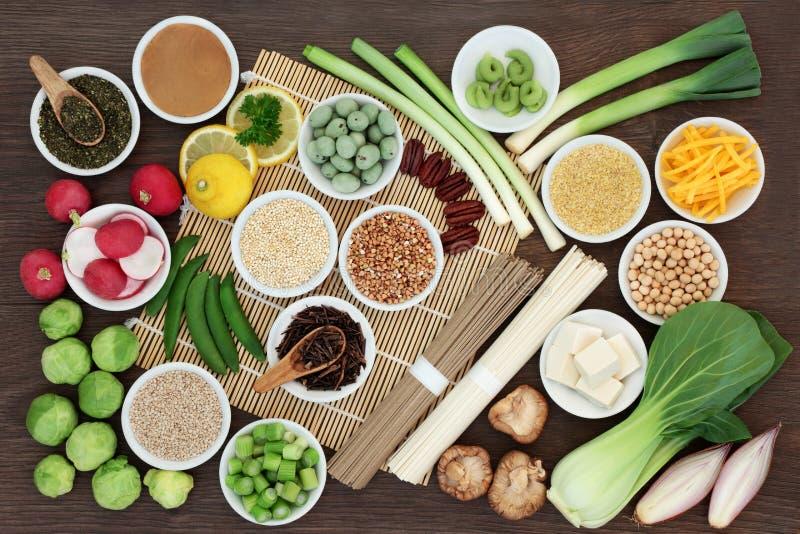 Sélection macrobiotique saine de nourriture photo stock