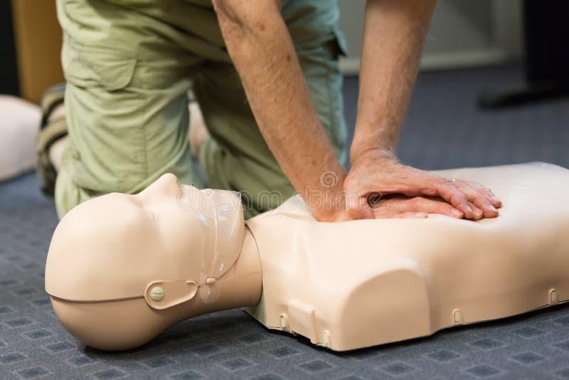 Séminaire de CPR de premiers secours photo stock
