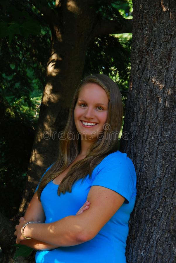 Sénior de High School fêmea foto de stock