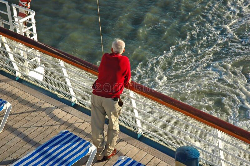 Sénior do navio de cruzeiros imagens de stock royalty free