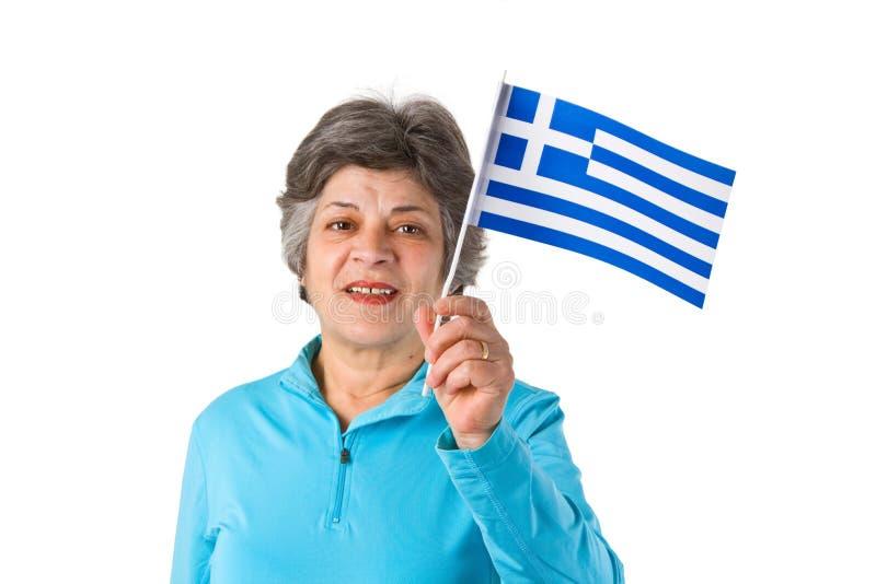 Sénior grego fêmea fotografia de stock royalty free