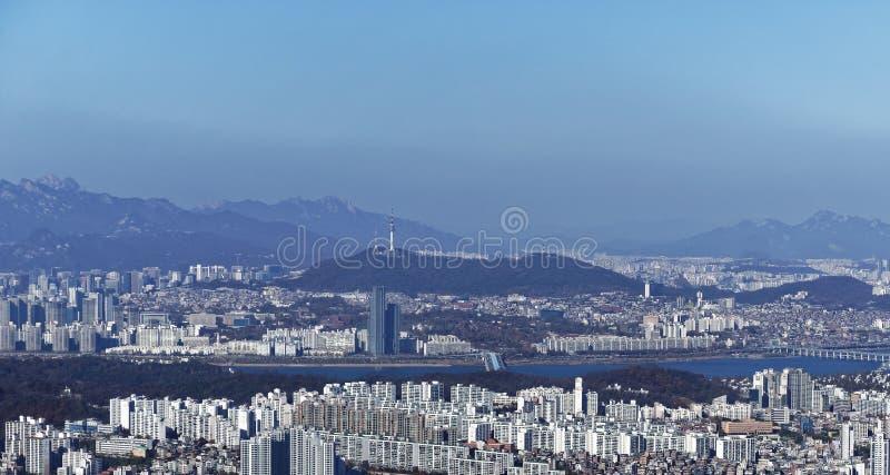 Séoul, Corée du Sud au jour photographie stock