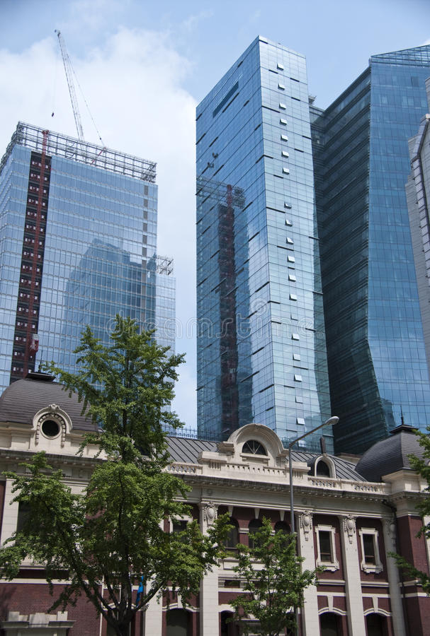Séoul vieux et neuf image libre de droits