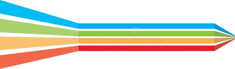 Séparateur de lignes dynamique illustration stock