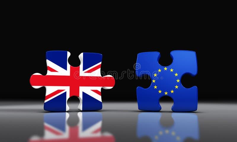 Séparation de Brexit Grande-Bretagne d'Union européenne illustration libre de droits