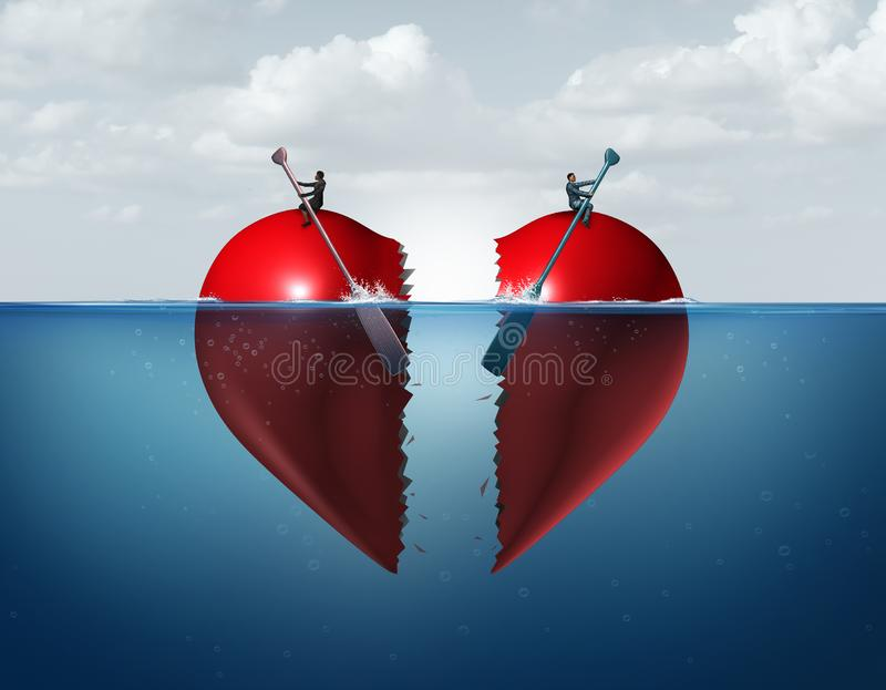 Séparation de divorce illustration stock