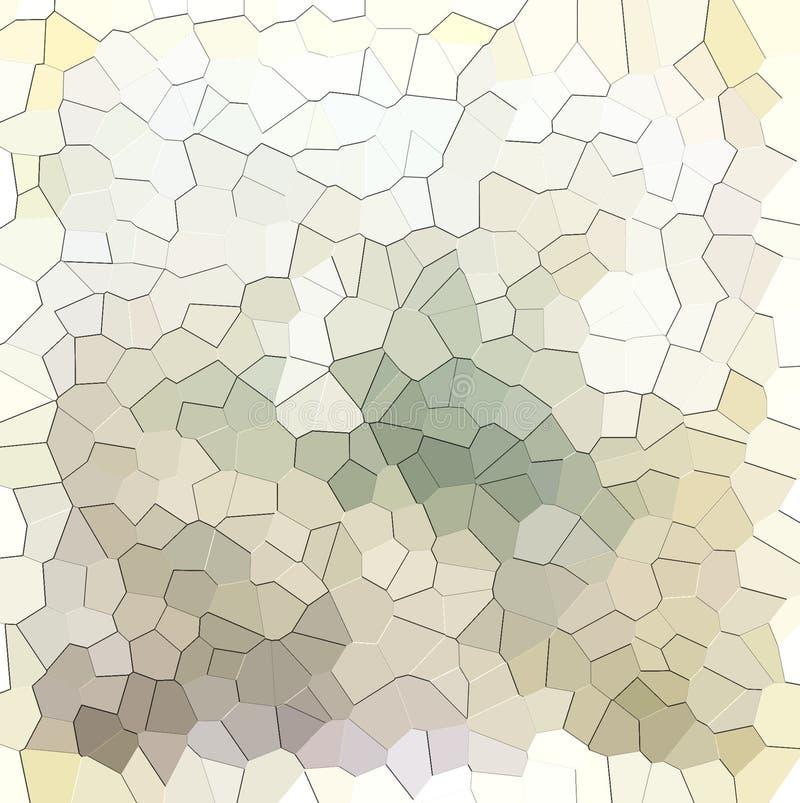 Sépia abstraite et modèle géométrique blanc illustration stock