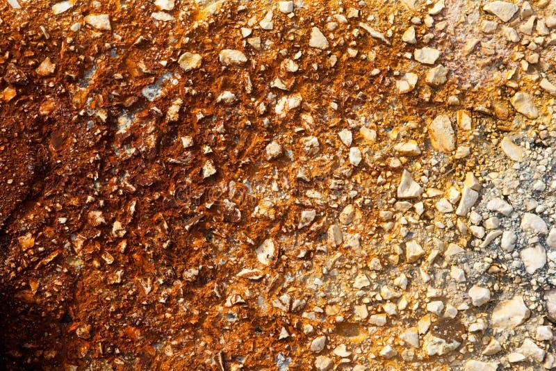 Sépia criquée de fond de vieux mur photographie stock