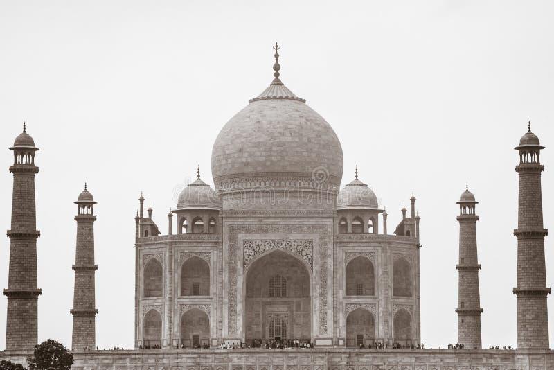 Sépia Taj Mahal, Âgrâ, uttar pradesh, Inde images libres de droits