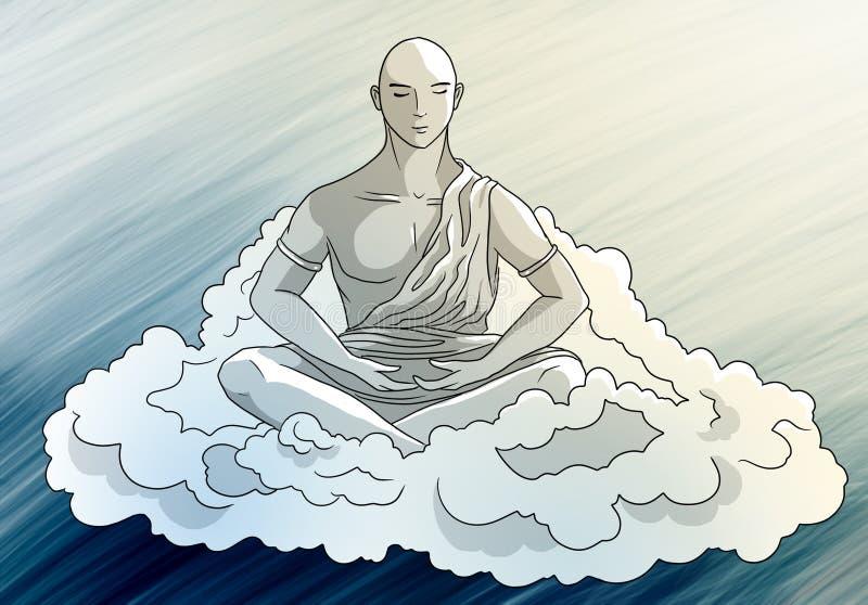 Sérénité de méditation illustration de vecteur
