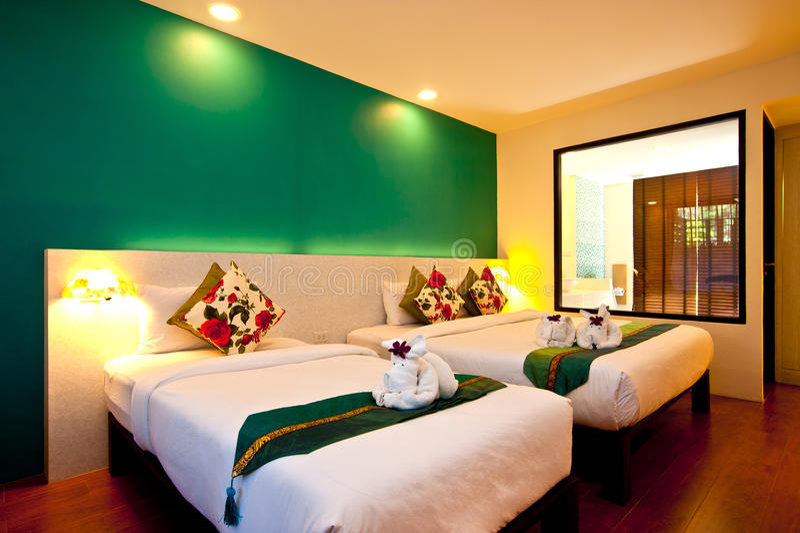 Série 01 do hotel do quarto imagem de stock royalty free