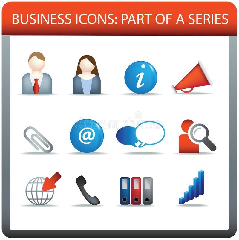 Série 2 do ícone do negócio ilustração royalty free