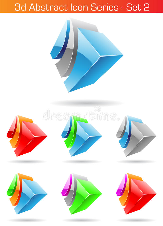 série abstraite du graphisme 3d - positionnement 2 illustration de vecteur