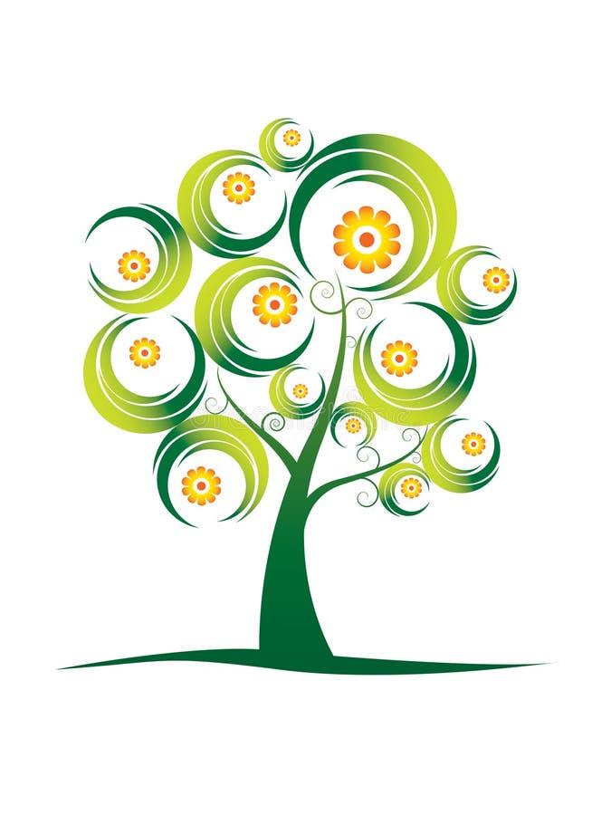 Série abstrata. .spring da árvore