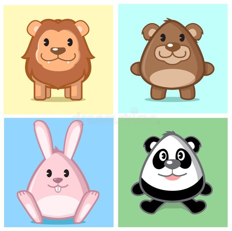 Série animal bonito ilustração stock