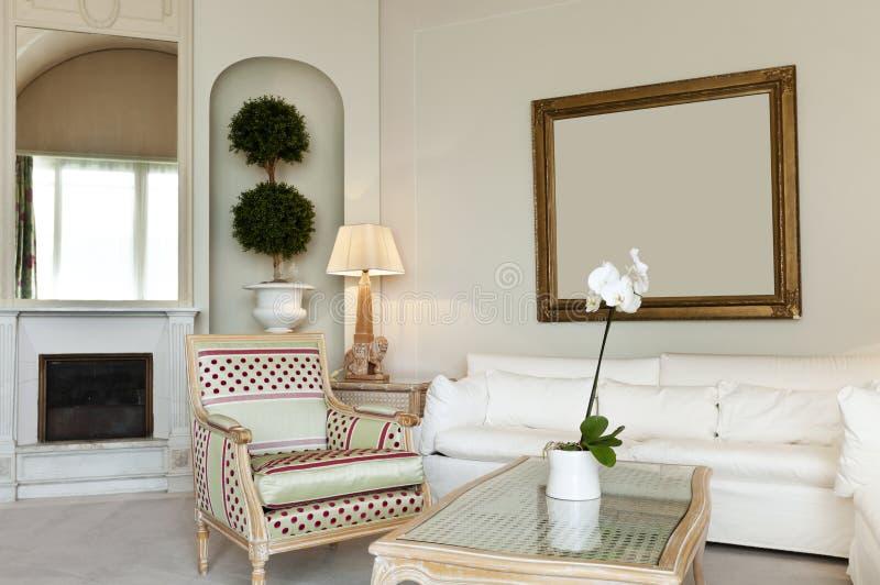 Série confortável, sala de estar fotos de stock royalty free