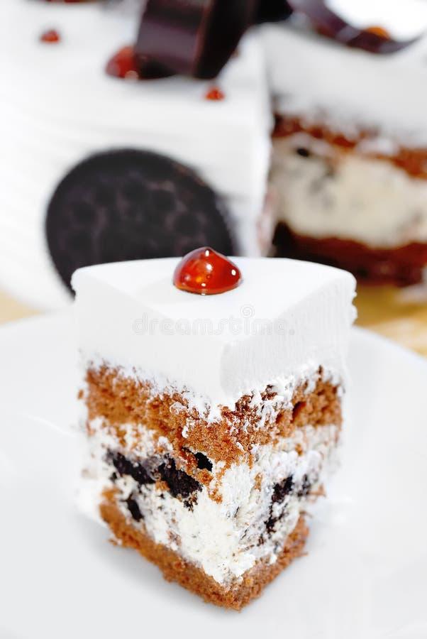 Série crème 02 de gâteau de biscuits photographie stock