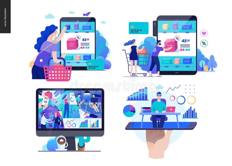 Série d'affaires - ensemble illustration stock