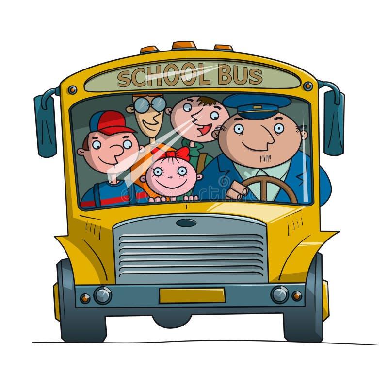 Série d'autobus scolaire - 1 illustration libre de droits