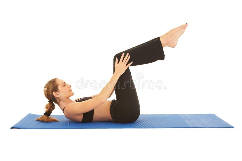 Série d'exercice de Pilates image libre de droits