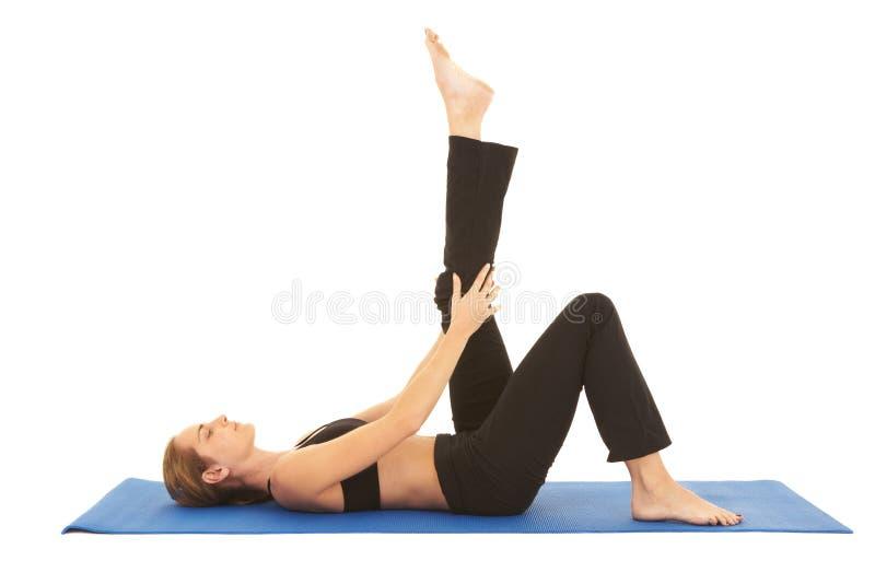 Série d'exercice de Pilates photos libres de droits
