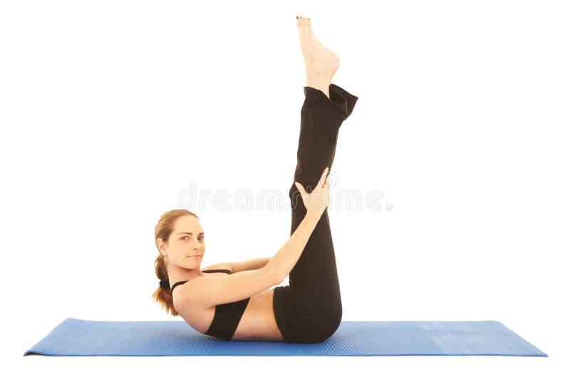 Série d'exercice de Pilates photo stock