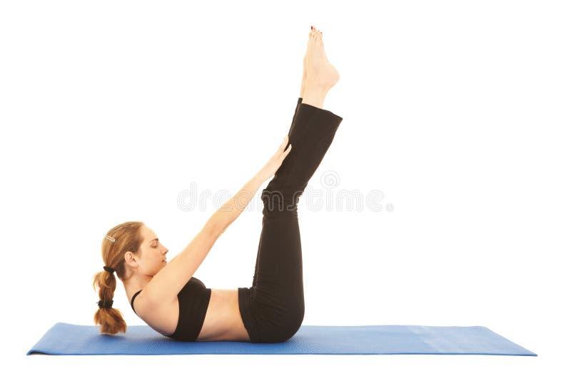 Série d'exercice de Pilates images libres de droits