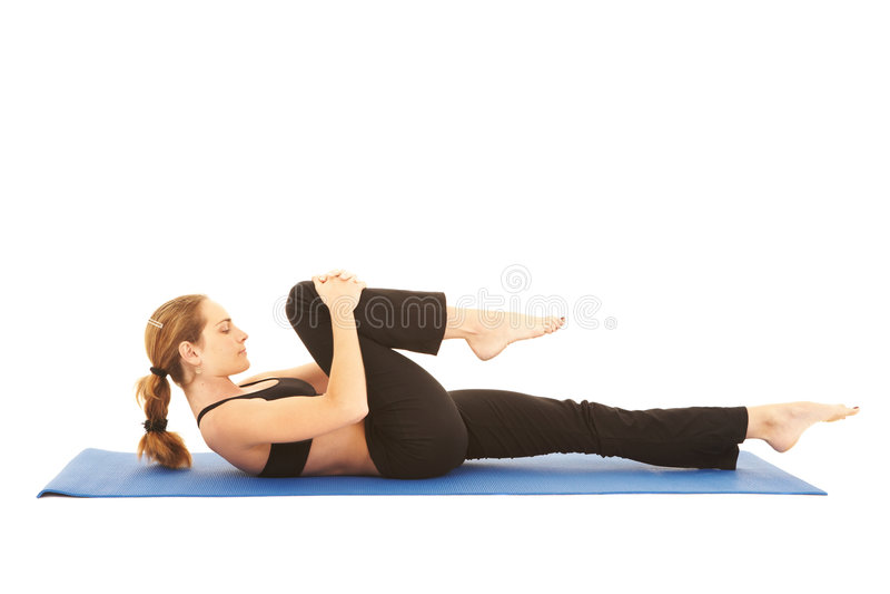 Série d'exercice de Pilates photographie stock