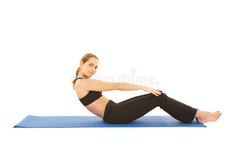 Série d'exercice de Pilates photo libre de droits
