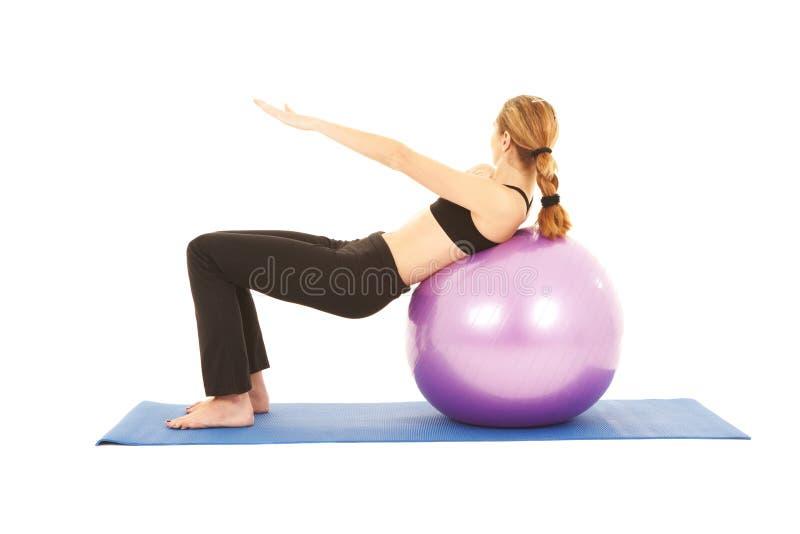 Série d'exercice de Pilates image stock