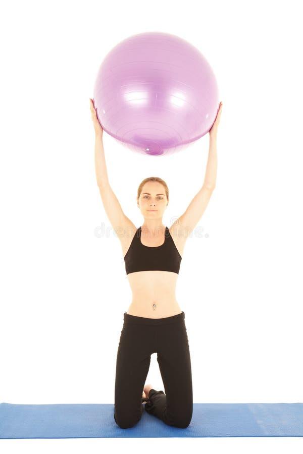 Série d'exercice de Pilates photos stock