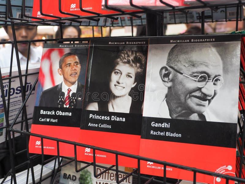Série d'honorables Barack Obama, princesse Diana et Gandhi du monde photo stock