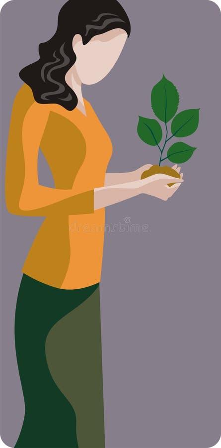Série d'illustration d'écologie illustration de vecteur