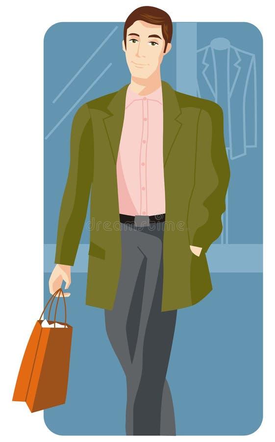 Série d'illustration d'achats illustration de vecteur