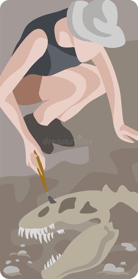 Série d'illustration d'archéologie illustration libre de droits