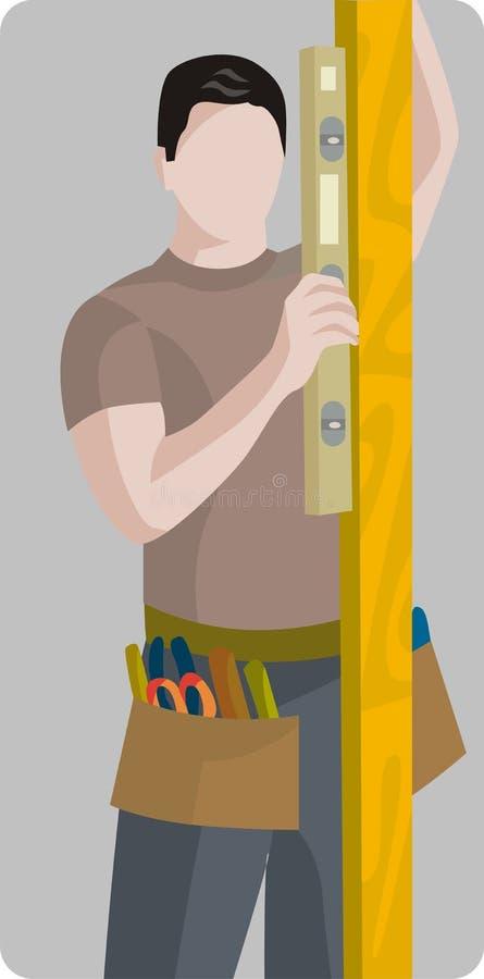 Série d'illustration d'ouvrier illustration libre de droits