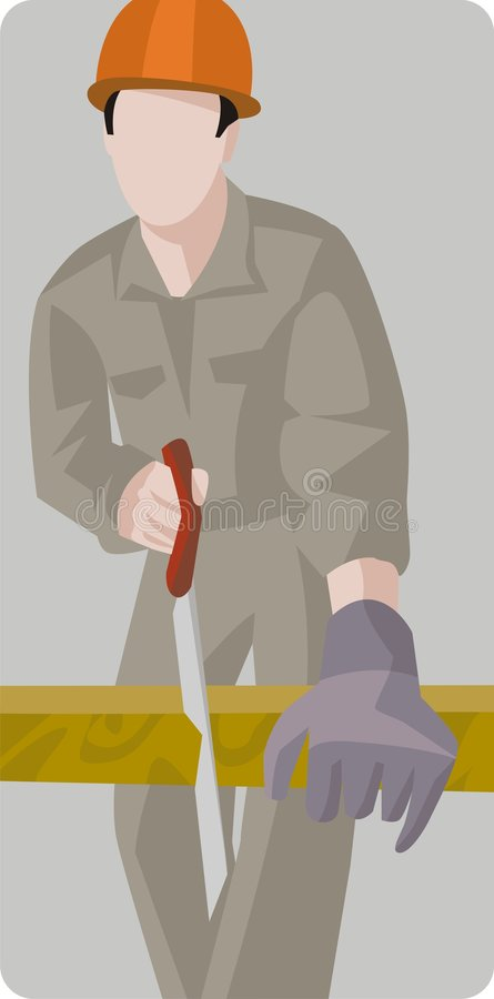 Download Série D'illustration D'ouvrier Illustration Stock - Illustration du homme, scie: 2146432