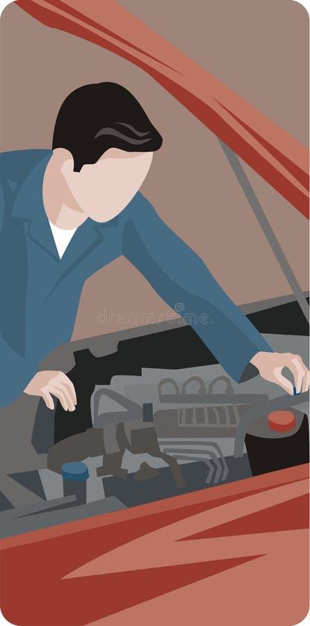 Série d'illustration d'ouvrier illustration de vecteur