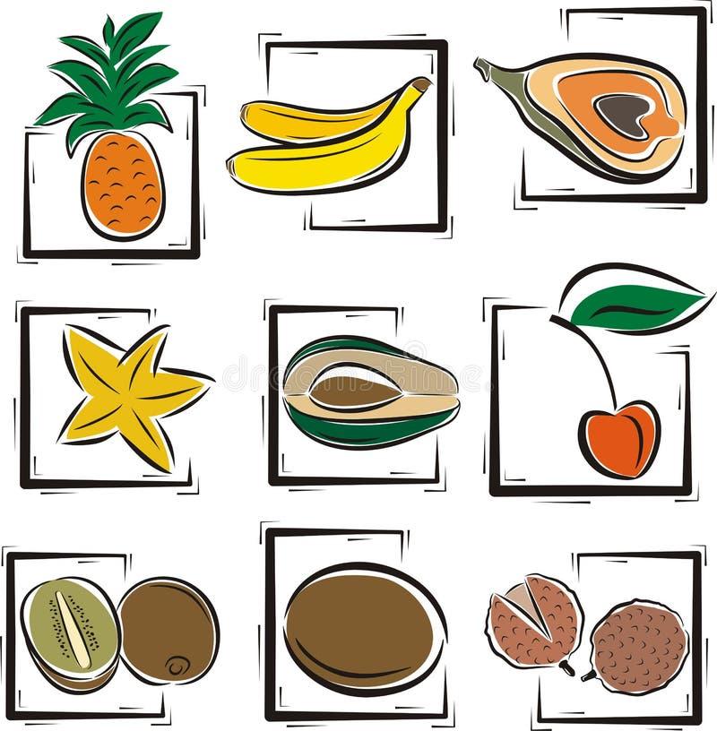 Série d'illustration de fruit illustration stock