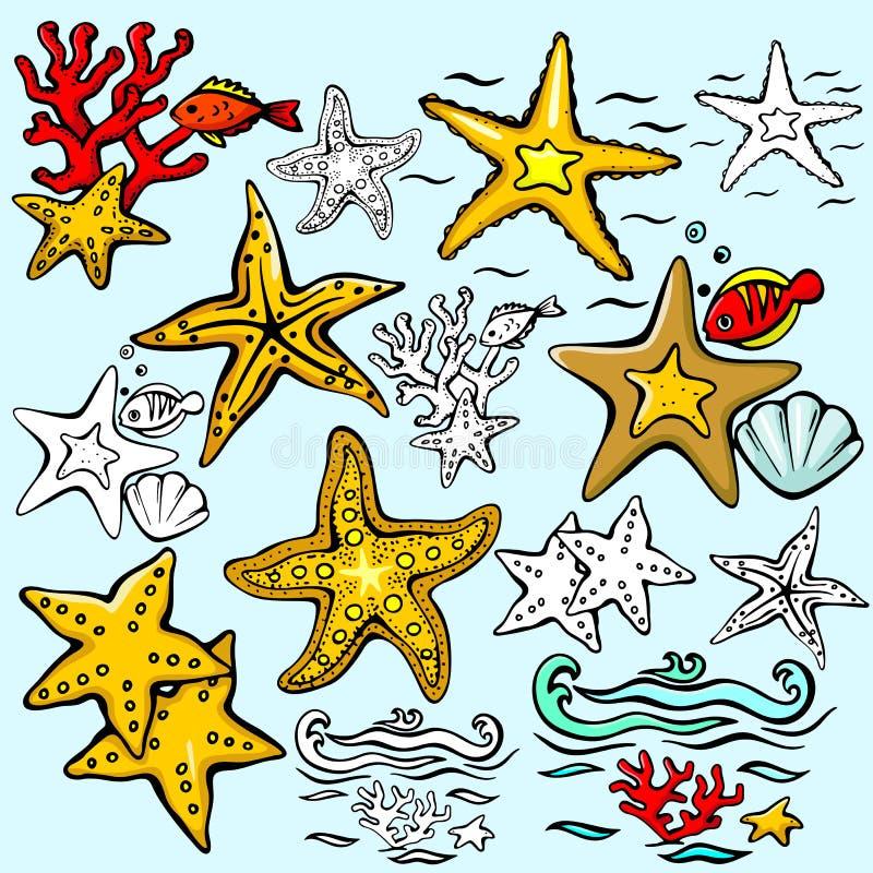 Série d'illustration de Seaworld illustration libre de droits