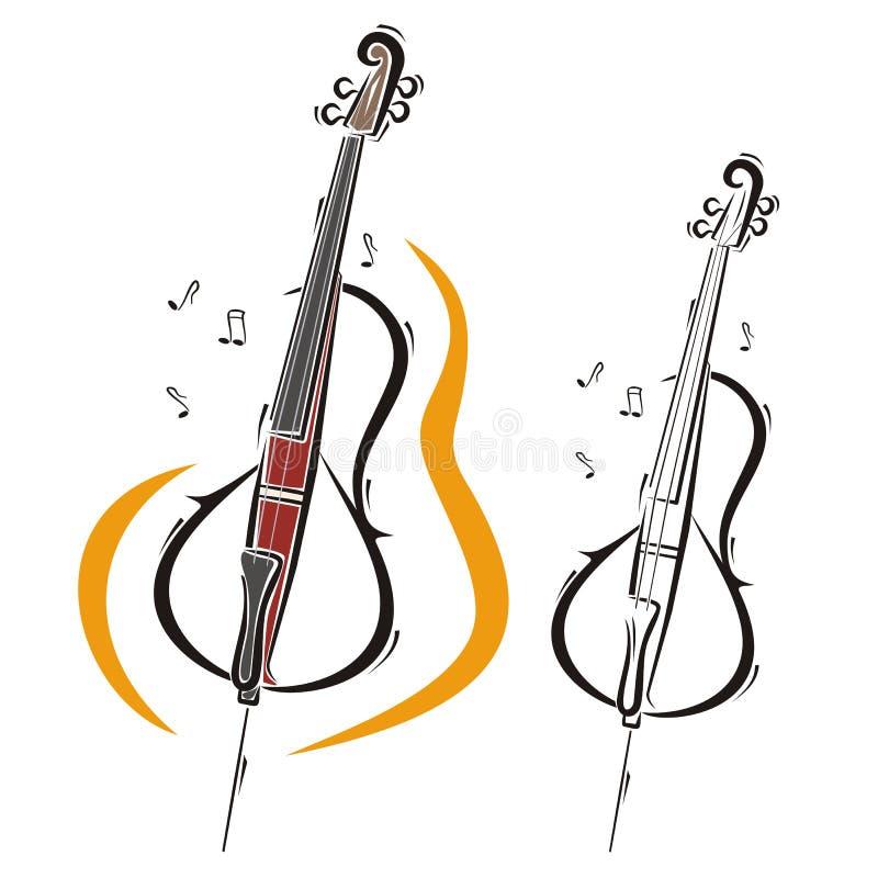 Série d'instrument de musique illustration stock