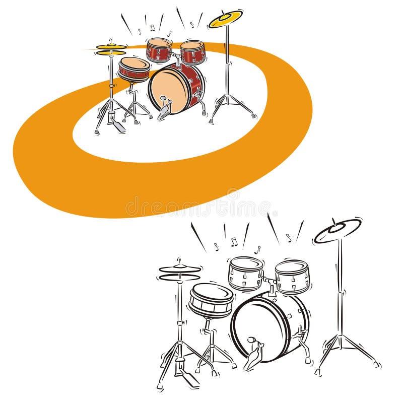 Série d'instrument de musique illustration libre de droits