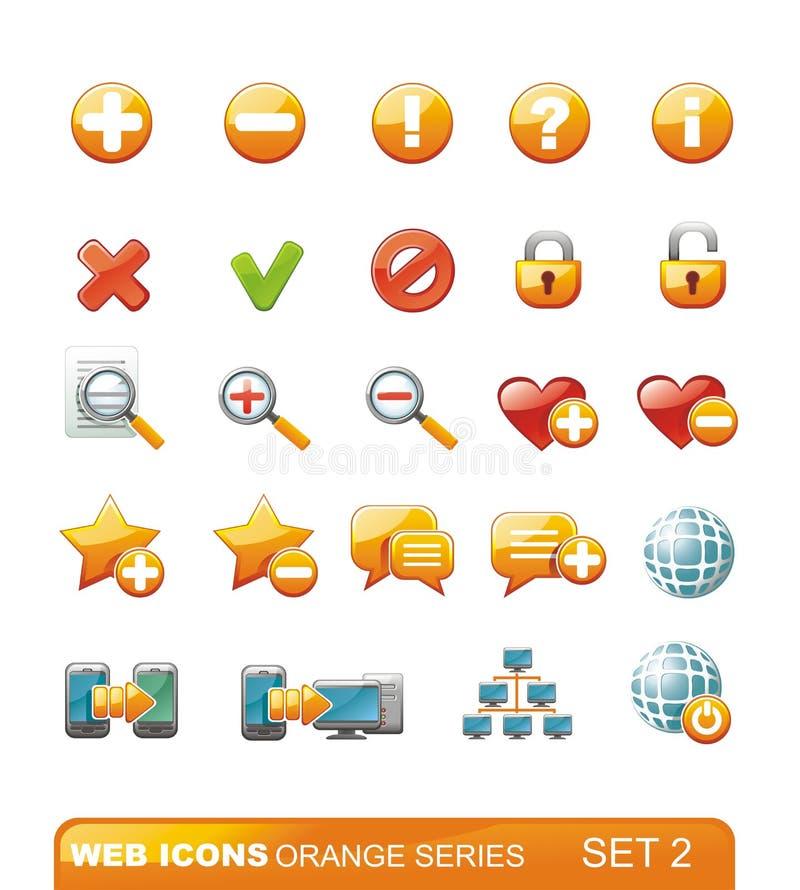 Série d'orange d'â de graphismes de Web. Positionnement 2 illustration stock