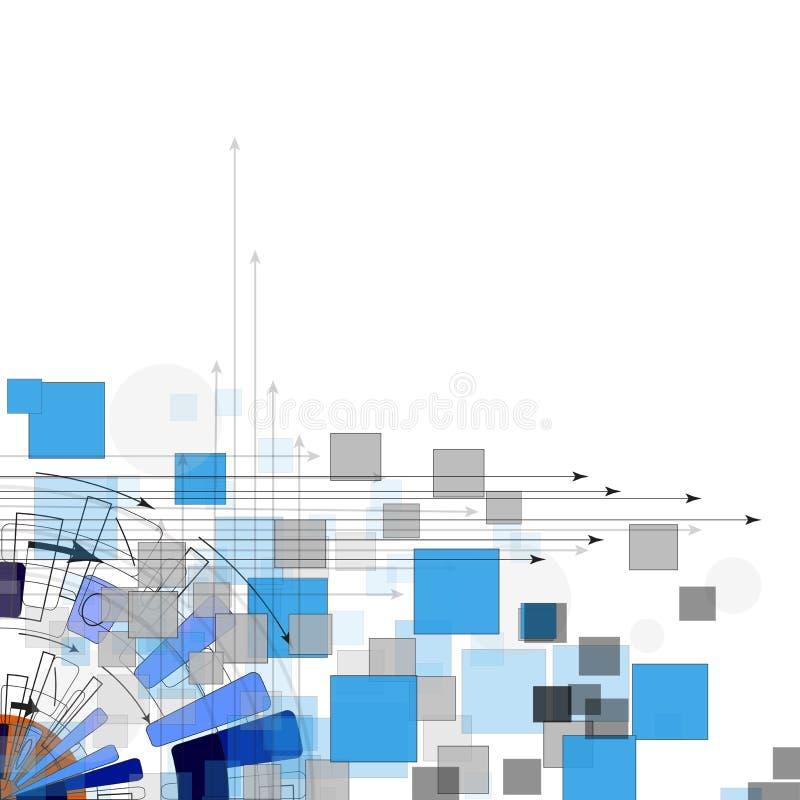 Série d'ordinateurs lumineuse abstraite de circuit fond d'affaires de technologie illustration de vecteur
