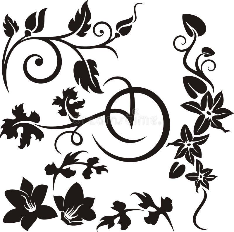 Série d'ornement floral illustration libre de droits