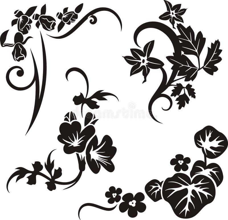 Série d'ornement floral illustration stock