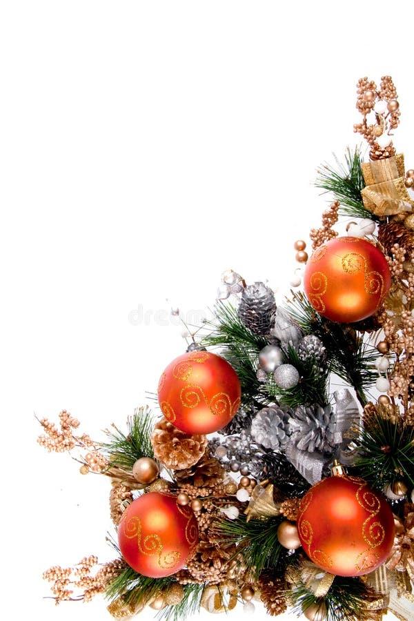 Série da decoração do canto do ornamento do Natal imagens de stock royalty free
