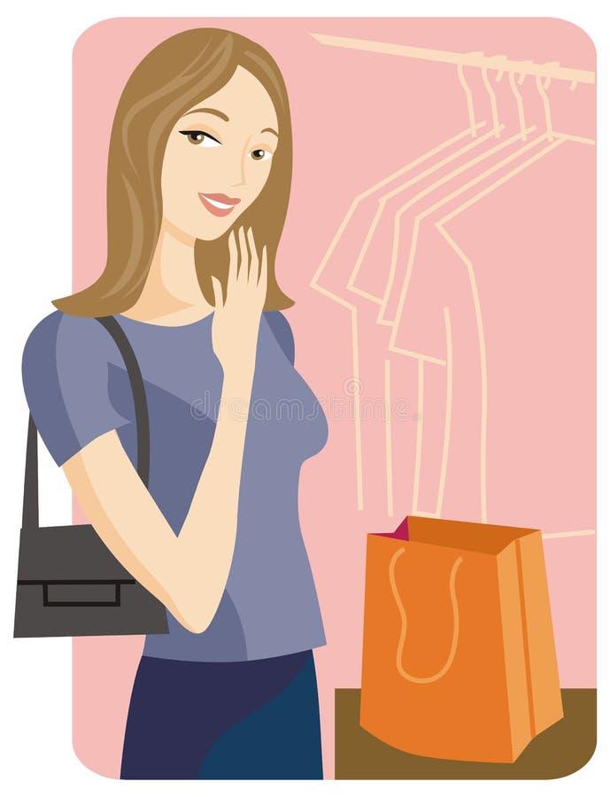 Série da ilustração da compra ilustração do vetor