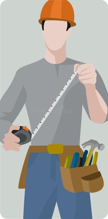 Série da ilustração do trabalhador ilustração do vetor
